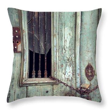 Old Door Detail Throw Pillow