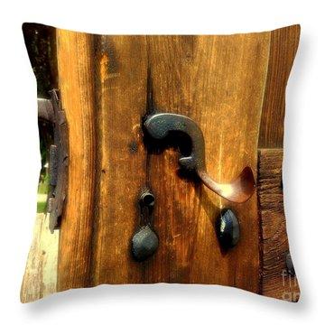 Old Door Handle Throw Pillow