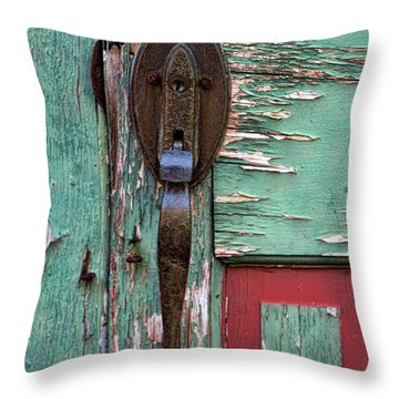 Old Door Knob 2 Throw Pillow by Joanne Coyle