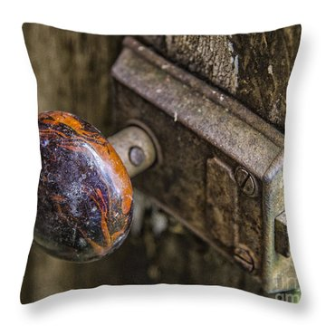 Old Door Knob Throw Pillow