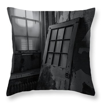 Throw Pillow featuring the photograph Old Door by Tom Singleton