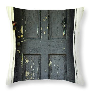 Old Door Throw Pillow by Zawhaus Photography