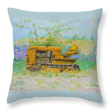Old Dozer Throw Pillow