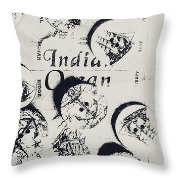 Old East India Trading Routes Throw Pillow