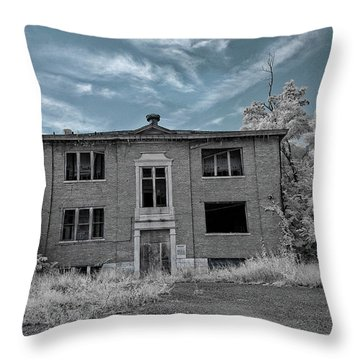 Old Edmonton High School Ir 2 Throw Pillow