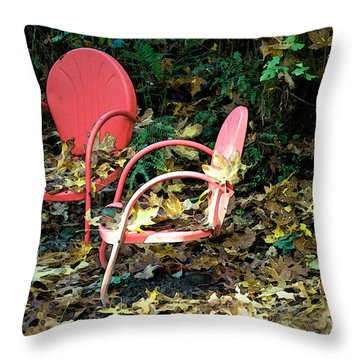 Old Empty Chairs Throw Pillow by Gwyn Newcombe