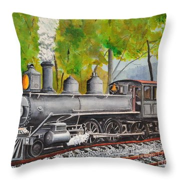 Old Engine 8 Throw Pillow