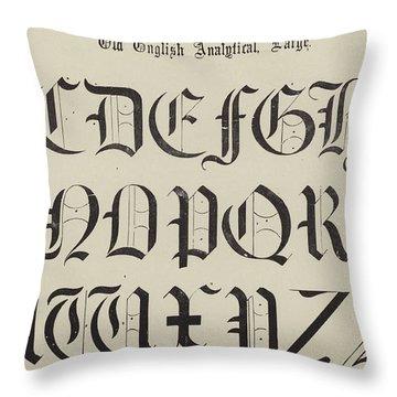 Old English Font Throw Pillow
