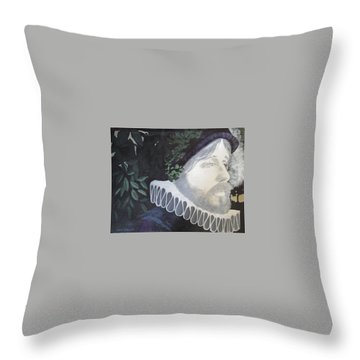 Throw Pillow featuring the painting Old Englishman by Bernard Goodman