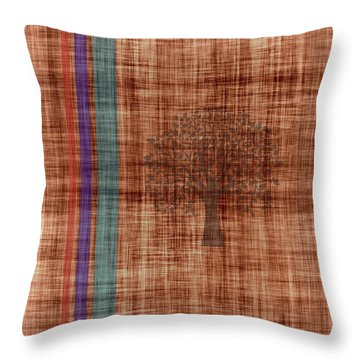 Old Fabric Throw Pillow