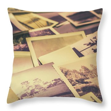 Old Faded Film Photography Throw Pillow