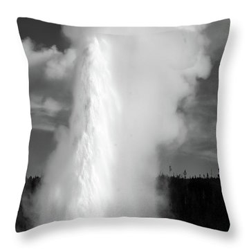 Throw Pillow featuring the photograph Old Faithful by Colleen Coccia