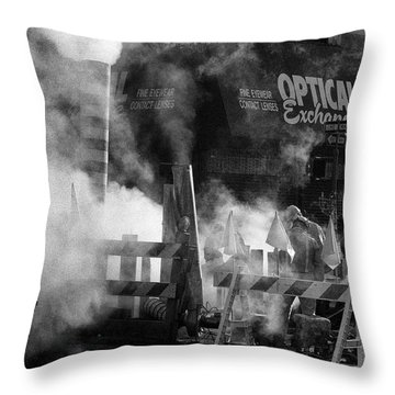 Throw Pillow featuring the photograph Old Faithful New York by Dave Beckerman