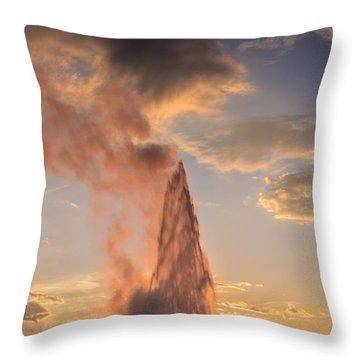 Old Faithful Yellowstone Throw Pillow