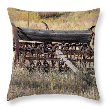 Farm Implament Westcliffe Co Throw Pillow