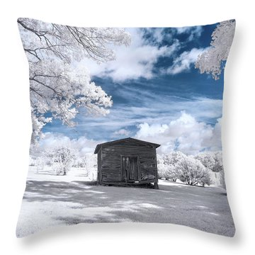 Old Farm Shed IIi Throw Pillow