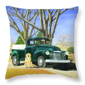 Old Farmhands Throw Pillow