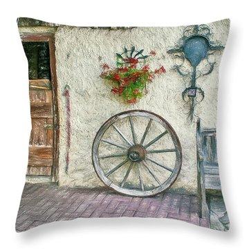 Throw Pillow featuring the photograph Old Farmhouse by Jutta Maria Pusl