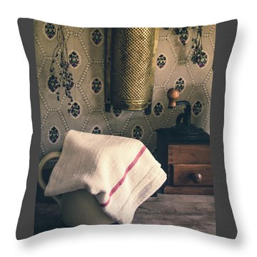 Throw Pillow featuring the photograph Old Farmhouse Kitchen Simple Life 12 by Julie Palencia