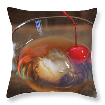 Throw Pillow featuring the photograph Old Fashioned Cocktail by Edward Fielding