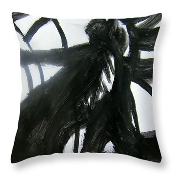 Old Fashioned Swing In My New Dress Throw Pillow by Judith Redman