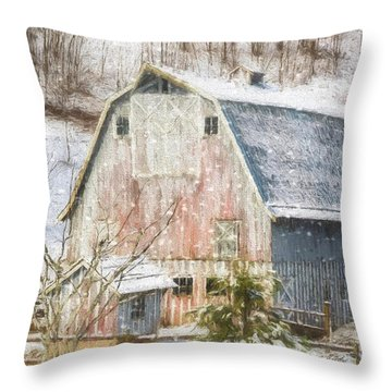 Old Fashioned Values - Country Art Throw Pillow