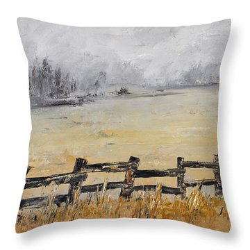 Old Fence Row Throw Pillow