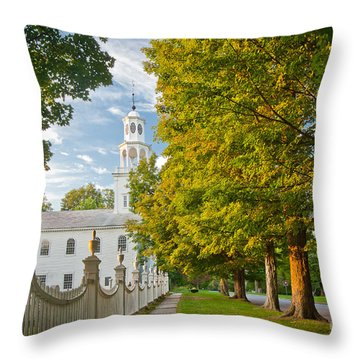 Old First Churchin Bennington Throw Pillow