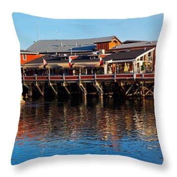 Old Fishermans Wharf, Monterey Throw Pillow