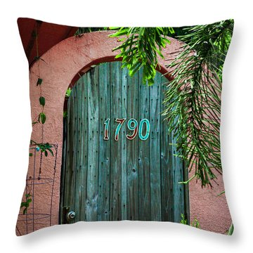 Old Florida 7 Throw Pillow
