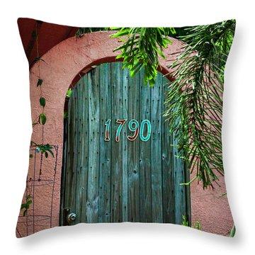 Old Florida 7 Throw Pillow