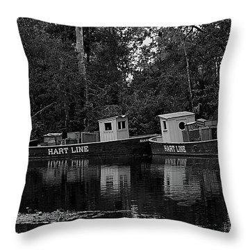 Old Florida Paddle Boats Throw Pillow