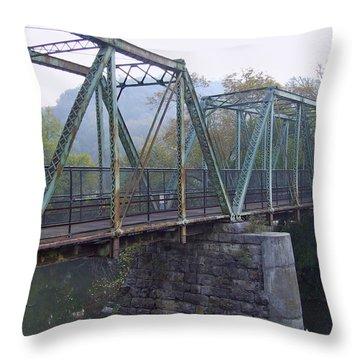 Old Foot Bridge Throw Pillow