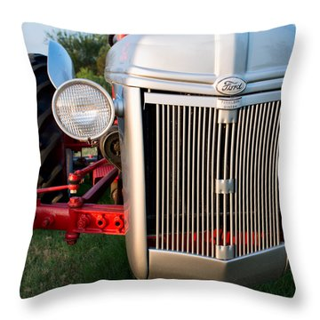 Ford Tractor 9n Tractor Front Throw Pillow