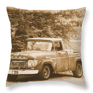 Old Ford Truck Throw Pillow