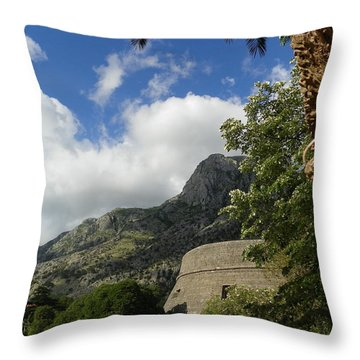 Old Fortress II Throw Pillow