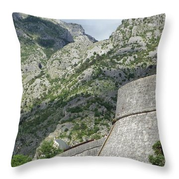 Old Fortress Throw Pillow
