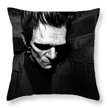 Old Frankie Throw Pillow by David Lee Thompson