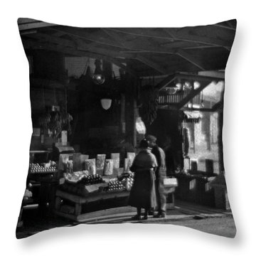 Old French Market Throw Pillow