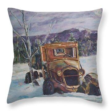 Old Friend II Throw Pillow by Alicia Drakiotes