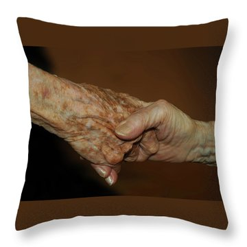 Old Friends Throw Pillow by Carolyn Dalessandro