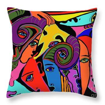 Old Friends Throw Pillow by Hans Magden
