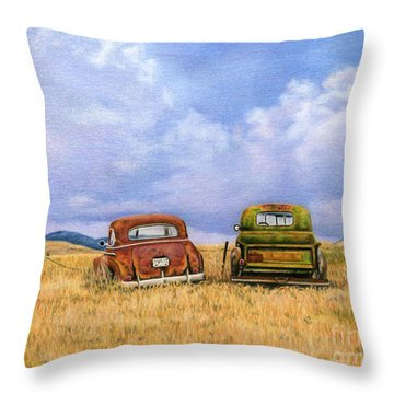 Old Chevy Truck Throw Pillows