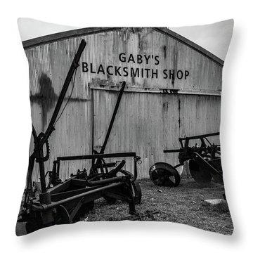 Old Frisco Blacksmith Shop Throw Pillow