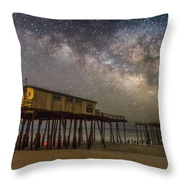 Old Frisco Pier Throw Pillow