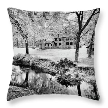 Throw Pillow featuring the photograph Old Frontier House by Paul W Faust - Impressions of Light