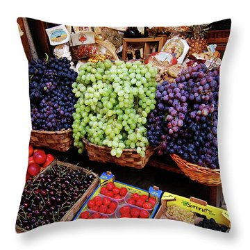 Old Fruit Store Throw Pillow