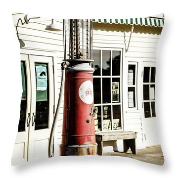 Throw Pillow featuring the photograph Old Fuel Pump by Alexey Stiop