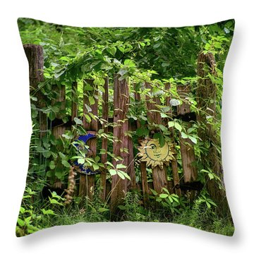 Throw Pillow featuring the photograph Old Garden Gate by Mark Miller