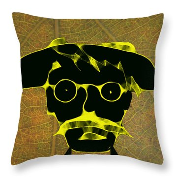 Old Gardener Throw Pillow by Asok Mukhopadhyay